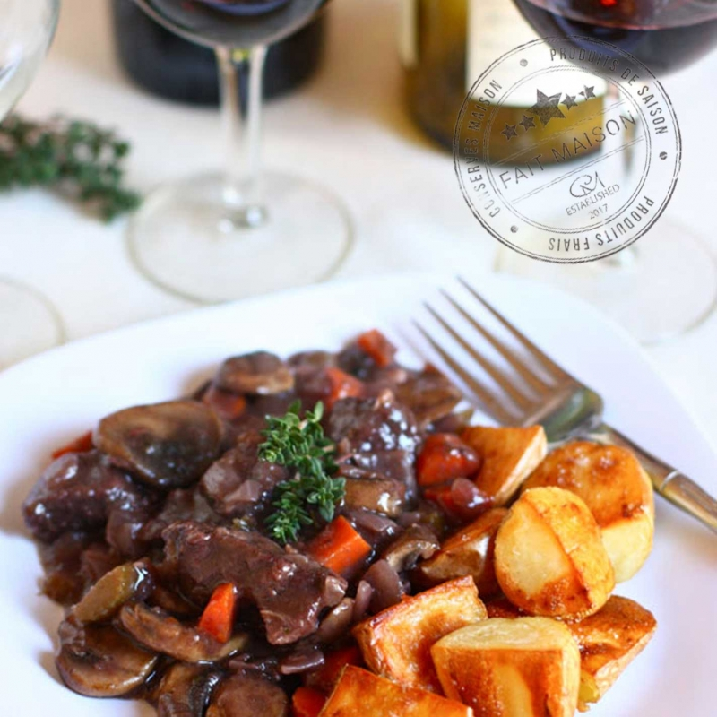 Traditional cookery Beef bourguignon