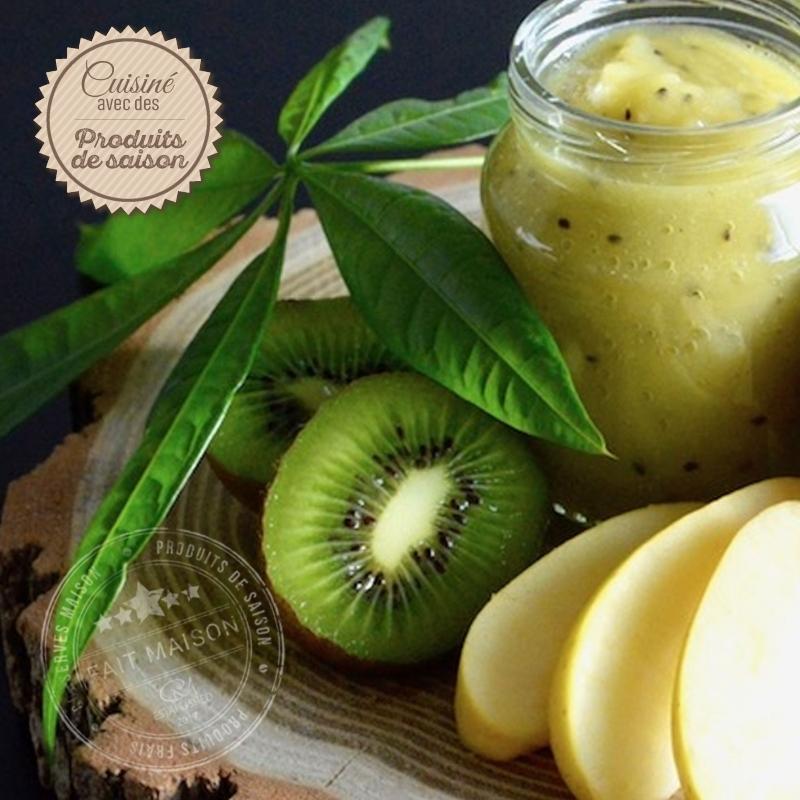 Conserves de fruits Compote Pommes Kiwis