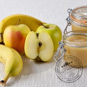 Conserves de fruits Compote Pommes Bananes