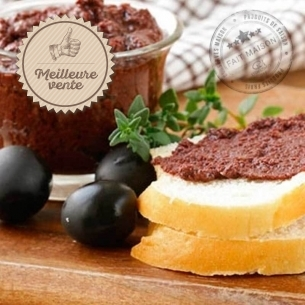 CMaison Les tartinables Tapenade olives noires, tomates et amandes grillées